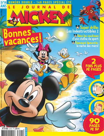le journal de mickey le journal de mickey n double 3445 3446 european comicsto read. Black Bedroom Furniture Sets. Home Design Ideas